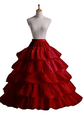 4 Vestido 3 Ajustable Miriñaque Petticoat tamaño Aros XS Conveniente 6 XXL Red Enagua Crinolina tamaño Edith para Novia el 4 qi Aros Hoop Largo de Un qtw6vII8x