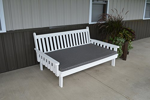 75 Inch Pine Indoor or Outdoor Traditional English Daybed Amish Made- 8 Stain Options ()