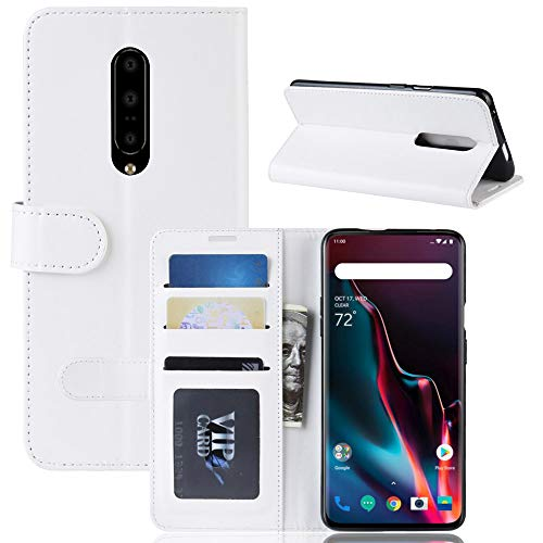(AMASELL-A Wallet Case for OnePlus 7 Pro,Premium Flip Folio PU Leather Magnetic Protective Case Cover with Card Holder Compatible with OnePlus 7)