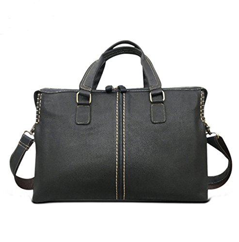 Black Man Texture Classic Fashion Concise Package Handcarry Business Bag Black