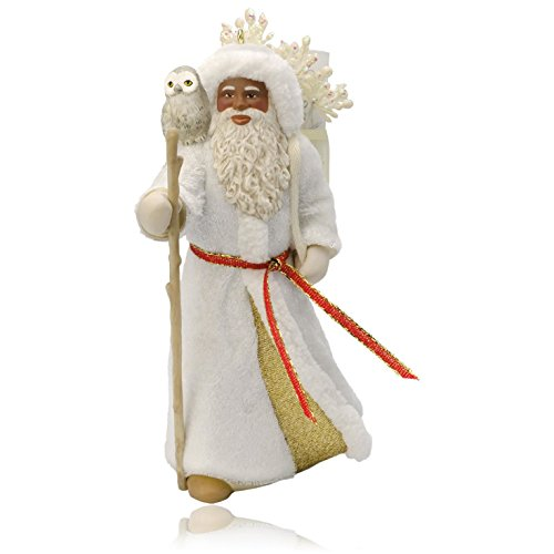Hallmark QSM7767 African- American Father Christmas and Owl Ornament