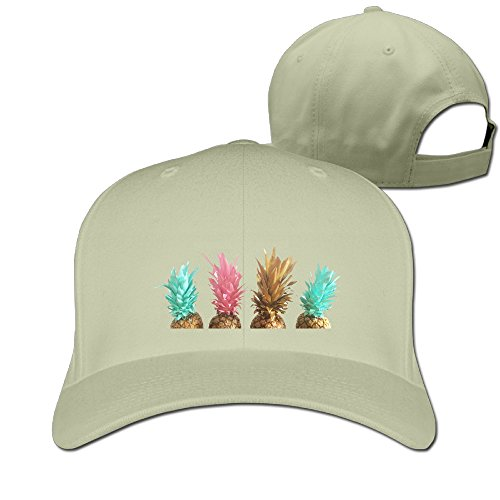Four Pineapple Unisex Breathable Cyber Monday Unicode Solid Peaked Hat Baseball Sport Student Cap