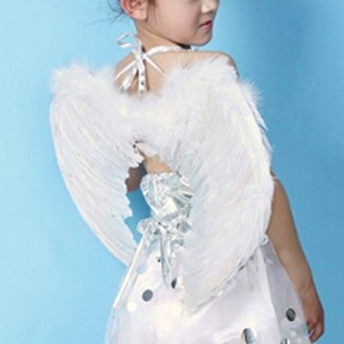 Cleaner Costume Dress Fancy (Home Product Kids Feather Fairy Angel Wings Hen Night Party Fancy Dress)
