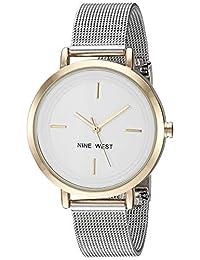 Nine West NW2321SVTT Reloj NINE WEST for Mujer, Plata, Mujer Estándar