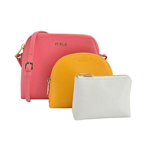 [해외](전 라) FURLA ROSE + GIALLO + PETALO ボエム BOHEME XL 숄더백 및 파우치 3 점 세트 #825431 EK08 ARE 병행 수입품 / (Furla) Furla ROSE + giallo + petalo boem BOHEME XL Shoulder Bag & Pouch 3 pieces set #825431 EK08 ARE parallel imports