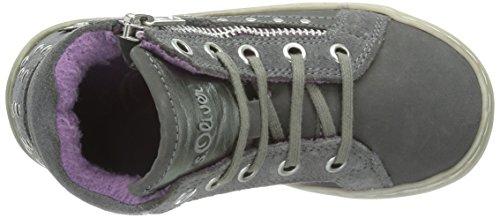 s.Oliver 36200 Mädchen Hohe Sneakers Grau (STONE 205)