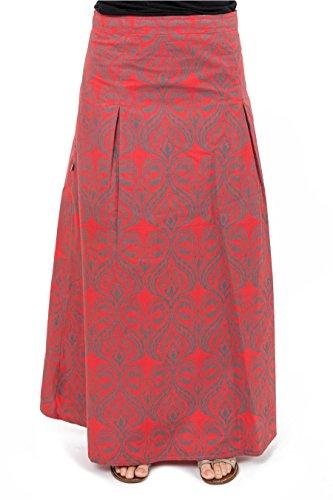 Rouge Originale Jupe Citrapat ethnichic Longue nqYwx7RC