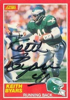b8aad8a8ebe Keith Byars autographed Football Card (Philadelphia Eagles) 1989 Score #198  - NFL Autographed