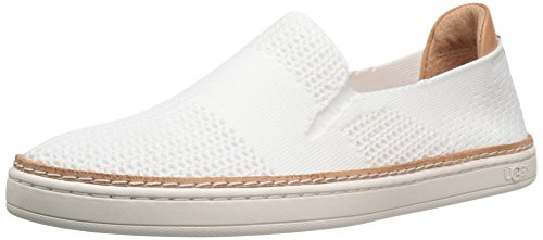 UGG Women's Sammy Fashion Sneaker, White, 9 B US (Best Uggs For Narrow Feet)