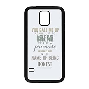 the Case Shop- Taylor Swift Quotes Singer TPU Rubber Hard Back Case Silicone Cover Skin for SamSung Galaxy S5 I9600 , s5xq-313
