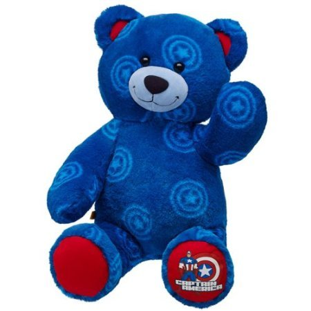 Build a Bear Workshop, Captain America Teddy Bear, 16 - America Teddy Bear