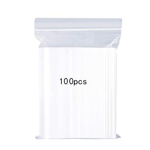 Bolsas de plástico Transparentes Que se Pueden Volver a sellar, Bolsa de Cierre de Cremallera Reutilizable Fuerte, Engrosamiento y Duradero, Prensa ...