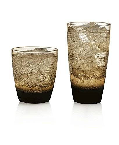 Libbey Classic Mocha 16-piece Drinkware Glass Set