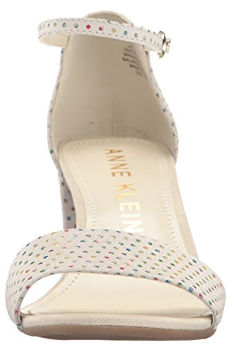 Anne Klein Kvinna Camila Läder Klack Sandal Off White / Multi