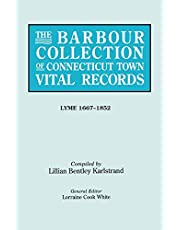 The Barbour Collection of Connecticut Town Vital Records. Volume 24: Lyme 1667-1852