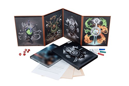 Hexers Game Master Screen Dungeons and Dragons DND DM Pathfinder RPG Role  Playing Compatible 4 Customizable Panels Inserts Included That Slide into