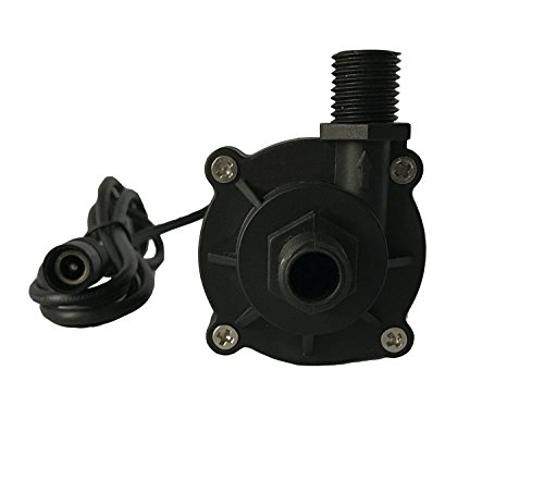 Fortric zkwp12dc submersible 130gph water fountain pump for Install external pond pump