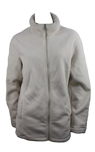 Cream Fleece Jacket - Women's Sherpa Lined Fleece Jacket, Cream Small