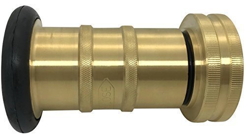 Brass Fire Hose Spray Nozzle 85 gpm Fire Equipment Heavy Duty Industrial Jet Fog Nozzle 100 psi 1-1/2'' NST/NH FHSN04B
