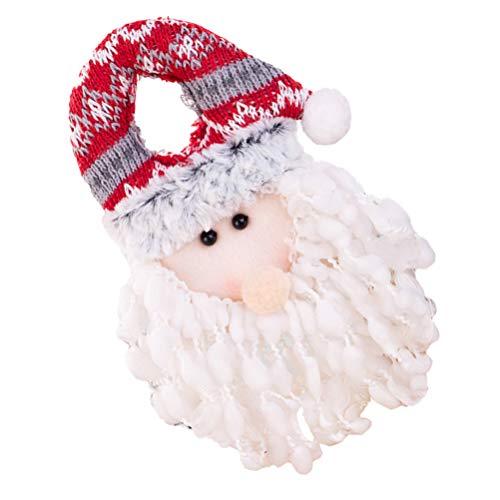 Amosfun Christmas Door Hanger Snowman Santa Door Knob Ornament Christmas Hanging Ornament for Christmas Tree Home Wall Decor