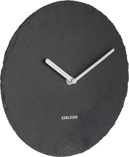 Karlsson Wall Clock, Slate, Black, One Size