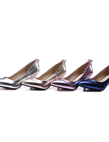 GGX/ Damenschuhe-High Heels-Kleid / Party & Festivität-Kunstleder-Kitten Heel-Absatz-Absätze / Pumps / Spitzschuh-Blau / Rosa / Silber / Gold golden-us10.5 / eu42 / uk8.5 / cn43