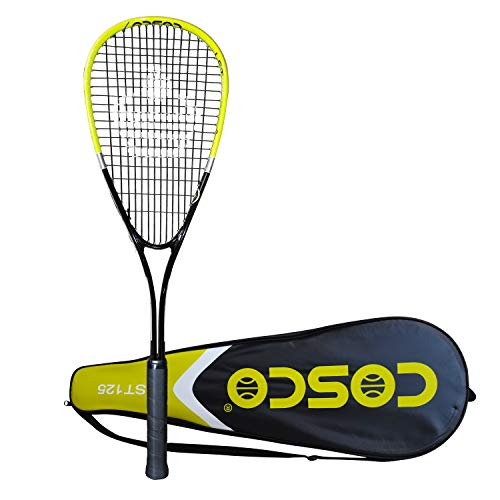 Cosco LST 125 Strung Tennis Racquet Yellow Black