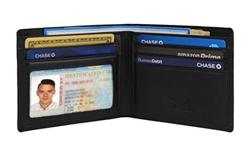 Bi Fold Slim Wallet - Slim Bifold Wallet For Men Genuine Leather RFID Blocking Packed In Stylish Gift Box
