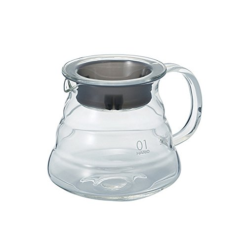 Hario V60 Glass Range Server (360ml, Clear, Size 01)