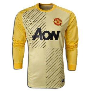 130d737a90c Amazon.com   NIKE 2013-14 Man Utd Home Goalkeeper Shirt (Yellow ...