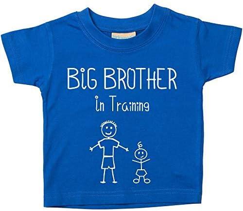 "disponible en tallas para ni/ños de 0 a 6 meses a 14 y 15 a/ños azul azul Talla:0-6 meses Camiseta azul /""Big Brother in Training/"" para regalar a ni/ños que esperan un hermano"