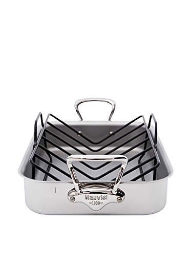 - Mauviel 5217.15GWP M'COOK RECT W Roasting pan with rack and injector, 40
