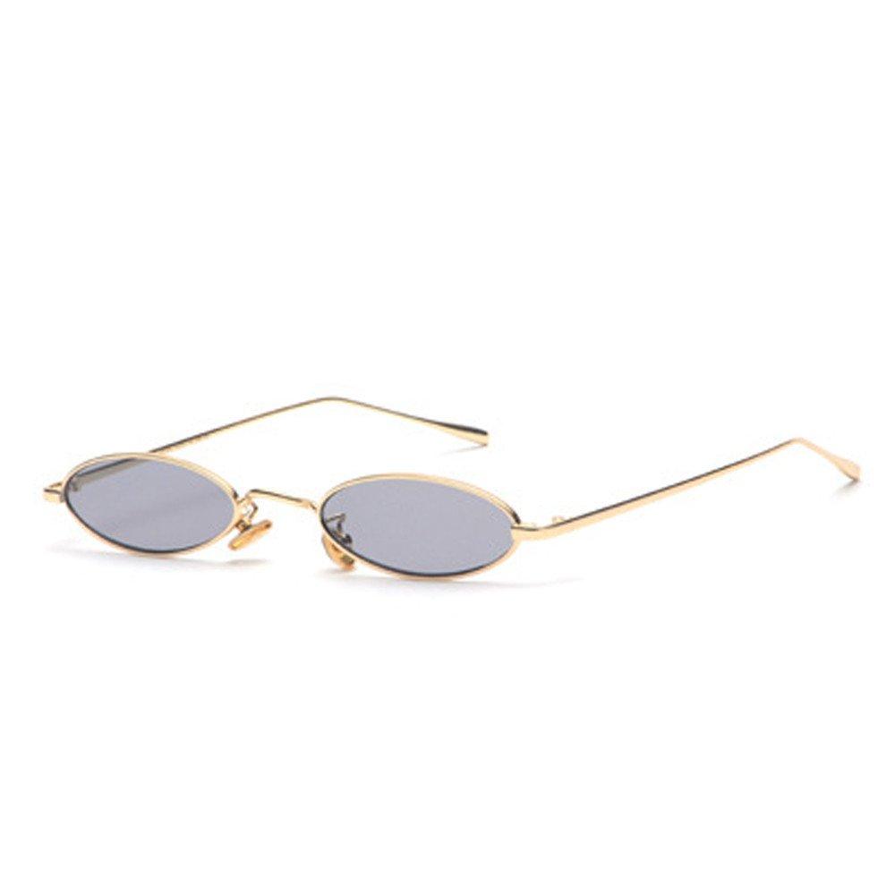 qbling technolog Vintage petites lunettes ovales marque de mode Femmes  Hommes cadre métallique rose clair teintes de lentilles Lunettes Lunettes  de soleil ... c0e32655e9b7