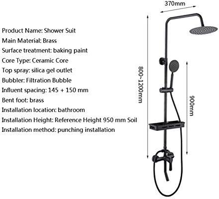 バスルームラグジュアリーシャワーの蛇口雨ミキサー8インチラウンドヘッドダブルクロスハンドルの浴室のバスタブハンドタブをタップウォールマウント浴室の備品スプレー