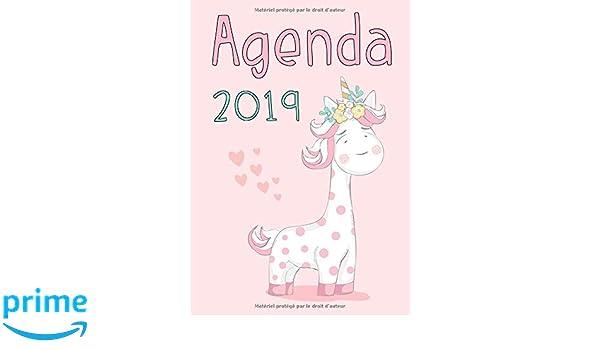 Agenda: Semainier - Petit Format A5 - Licorne Rose Turquoise ...