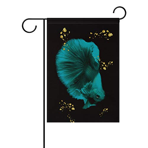 Chic Houses Cute Goldfish Watercolor Painting Outdoor Garden Flags Pretty Animal Colorful Concise Style Vertical Double Sided Home Decorative House Yard Sign 28 x 40 Inch 2030994