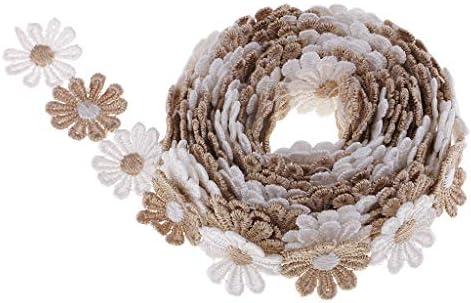 手芸用リボン 刺繍テープ レースリボン 縫製アクセサリー DIY工芸品 3ヤード 衣装装飾 3色選ぶ - コーヒー