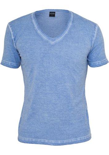 """Urban Classics Shirt """"Spray Dye V-Neck Tee"""", Größe: XL, Farbe: skyblue"""