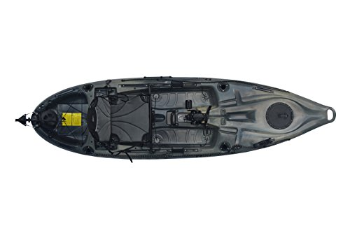 Riot Kayaks Mako 10 Angler Impulse Drive Mako 10 Angler with Impulse Drive Deluxe Sot Fishing Kayak, 10′, Camo