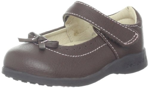 pediped Flex Isabella Mary Jane (Toddler/Little Kid),Chocolate Brown,26 EU (9-9.5 E US Toddler)