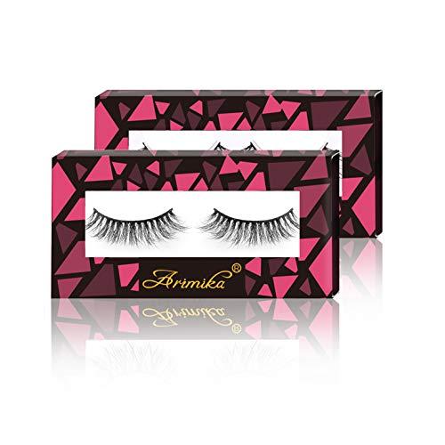 da85371562d Arimika Handmade 3D Mink False Eyelashes 2 Pair Pack -Reusable with Sturdy  Flexible Band,