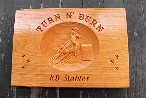(Custom Horse Stable Sign, Barn Personalized Wood Sign, Custom Stable Sign, Ranch Sign, Barrel Racing, Barrel Racer, Stall sign)