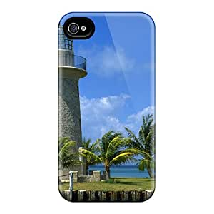 First-class Case Cover For Iphone 4/4s Dual Protection Cover Boca Chita Harbor Lighthouse
