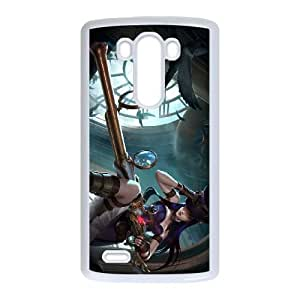 League of Legends Caitlyn LG G3 Cell Phone Case White 8You038154