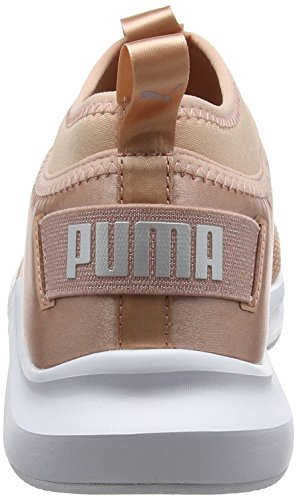 Mujer Wn's Satin Low Phenom Beige Puma de EP para Cross Peach White puma Beige Zapatillas wIz1yq