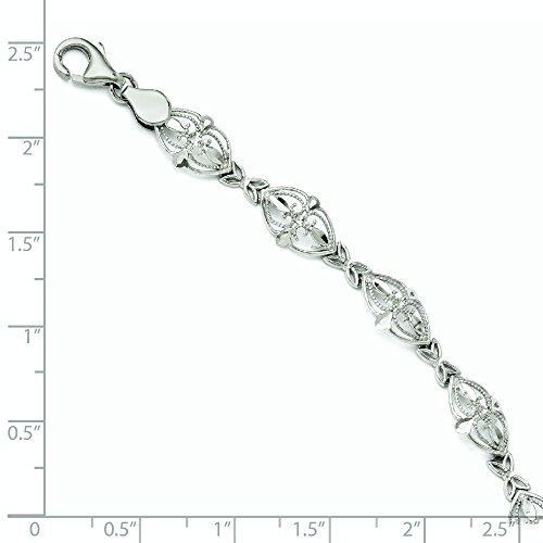 "Bracelet en or blanc 14 carats - 7 ""- JewelryWeb"