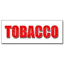 "48"" TOBACCO DECAL sticker cigarettes cigar cigs pipes vape smoke tobacconist"