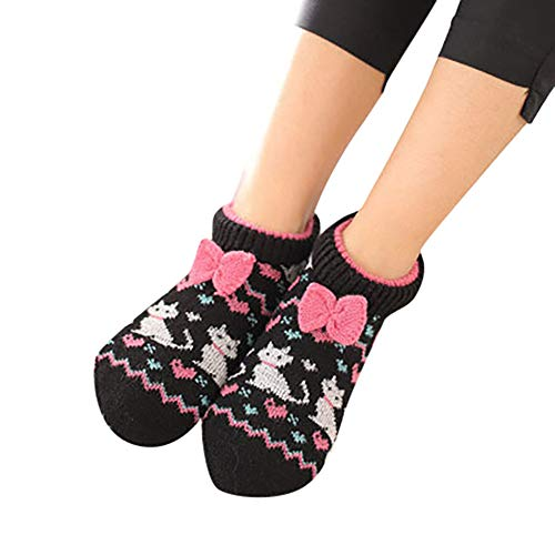 (Yaida1 Pairs Adult Soft Cosy Home Bed Floor Booties Socks Sleep Sock)