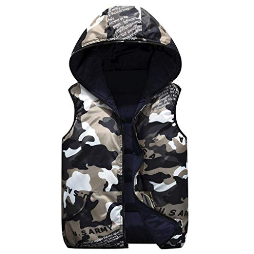 Paternity Fashion Down Camouflage Hooded Coat Men's Slim Fit Men's Lannister Coat Jackets Hooded Overcoat Vest Marineblau Vest Outerwear SwpgqF5