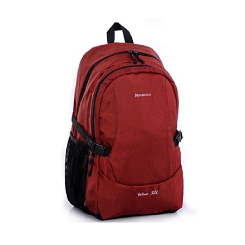 Z&N Backpack Unisex Al Aire Libre Casual Shoulder Bag Impermeable Nylon Sports Camping Mochila Mochila De La Universidad Bolsa De Almacenamiento Correa Hombro Uso Diario Ajustable A 32L A